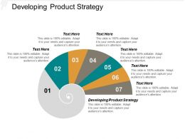 Developing Product Strategy Ppt Powerpoint Presentation Ideas Maker Cpb