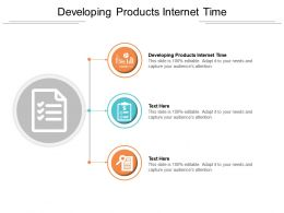 Developing Products Internet Time Ppt Powerpoint Inspiration Portfolio Cpb