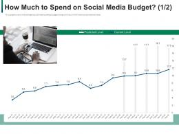Developing Refining B2b Sales Strategy Company How Much To Spend On Social Media Budget Level Ppt Model