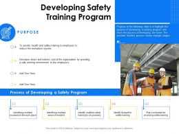 Developing Safety Training Program Employees Ppt Powerpoint Presentation File Example