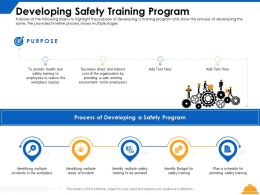 Developing Safety Training Program Process Ppt Powerpoint Presentation Show Guidelines