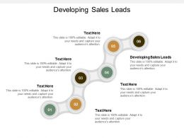 Developing Sales Leads Ppt Powerpoint Presentation Model Guide Cpb