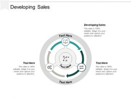Developing Sales Ppt Powerpoint Presentation Portfolio Slides Cpb