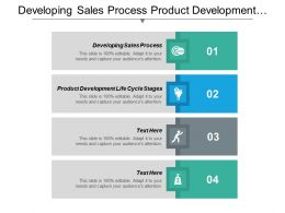 Developing Sales Process Product Development Life Cycle Stages Cpb
