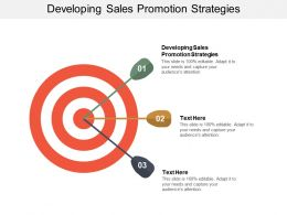 Developing Sales Promotion Strategies Ppt Powerpoint Presentation Icon Gallery Cpb