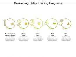 Developing Sales Training Programs Ppt Powerpoint Presentation Slides Layouts Cpb