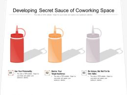 Developing Secret Sauce Of Coworking Space