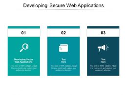 Developing Secure Web Applications Ppt Powerpoint Presentation Styles Cpb