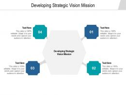 Developing Strategic Vision Mission Ppt Powerpoint Presentation Inspiration Guidelines Cpb
