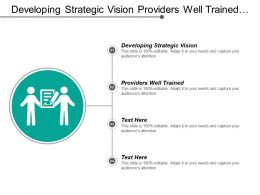 Developing Strategic Vision Providers Well Trained Achieve Profitability
