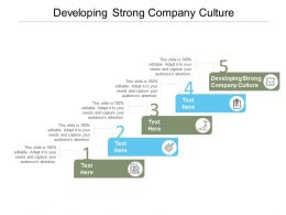 Developing Strong Company Culture Ppt Powerpoint Presentation Professional Background Images Cpb