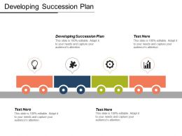 Developing Succession Plan Ppt Powerpoint Presentation Icon Format Cpb