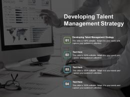 Developing Talent Management Strategy Ppt Powerpoint Presentation Gallery Diagrams Cpb