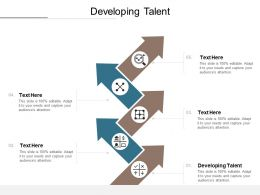 Developing Talent Ppt Powerpoint Presentation Show Example Introduction Cpb