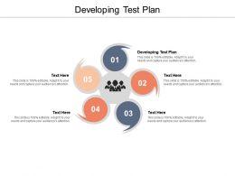 Developing Test Plan Ppt Powerpoint Presentation Slides Smartart Cpb