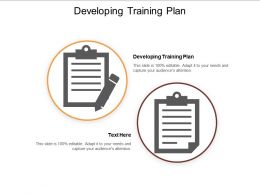 Developing Training Plan Ppt Powerpoint Presentation Infographic Template Templates Cpb