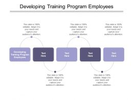Developing Training Program Employees Ppt Powerpoint Presentation Show Cpb