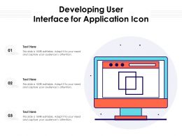 Developing User Interface For Application Icon