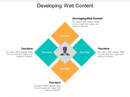 Developing Web Content Ppt Powerpoint Presentation Icon Files Cpb