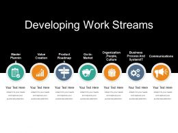 Developing Work Streams Powerpoint Templates
