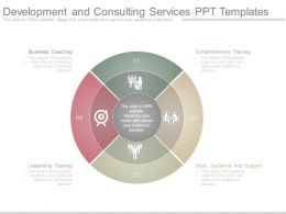 Development And Consulting Services Ppt Templates