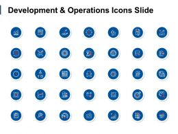 Development And Operations Icons Slide Arrows Ppt Powerpoint Presentation File Brochure