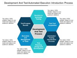 Development And Test Automated Execution Introduction Process