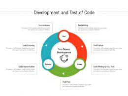 Development And Test Of Code