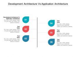 Development Architecture Vs Application Architecture Ppt Powerpoint Presentation Pictures Slide Download Cpb