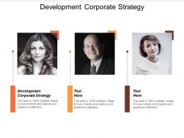 Development Corporate Strategy Ppt Powerpoint Presentation File Layout Ideas Cpb