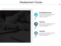 Development Course Ppt Powerpoint Presentation Gallery Template Cpb