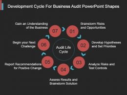 Development Cycle For Business Audit Powerpoint Shapes
