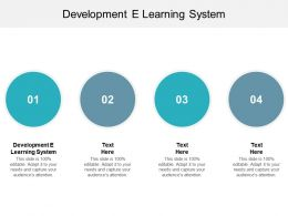Development E Learning System Ppt Powerpoint Presentation Professional Gallery Cpb