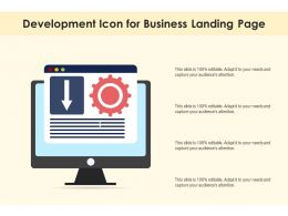 Development Icon For Business Landing Page