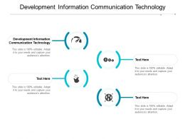 Development Information Communication Technology Ppt Powerpoint Presentation File Cpb