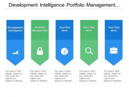 Development Intelligence Portfolio Management Development Intelligence Release Management