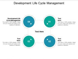 Development Life Cycle Management Ppt Powerpoint Presentation Ideas Designs Cpb