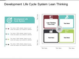 Development Life Cycle System Lean Thinking Flow Chart Cpb