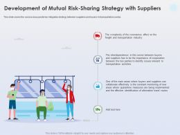 Development Of Mutual Risk Sharing Strategy With Suppliers Mitigation Strategy Ppt Slides