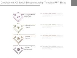 Development Of Social Entrepreneurship Template Ppt Slides