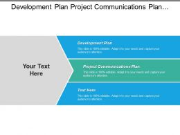 Development Plan Project Communications Plan Conflict Management Training Plan Cpb