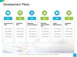 Development Plans Launch Program Ppt Powerpoint Presentation Portfolio Graphics Tutorials