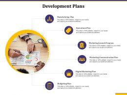 Development Plans Marketing Communication Plan Ppt Presentation Topics