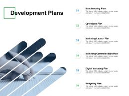 Development Plans Marketing Communication Ppt Powerpoint Presentation Gallery Samples