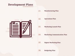 Development Plans Operations Plan Ppt Powerpoint Presentation Slide