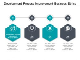 Development Process Improvement Business Ethics Ppt Powerpoint Presentation Pictures Example Cpb