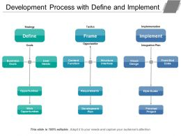 Development Process With Define And Implement