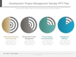 Development Project Management Sample Ppt Files