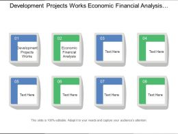 Development Projects Works Economic Financial Analysis Assessment Projects
