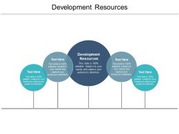 Development Resources Ppt Powerpoint Presentation Pictures Layouts Cpb